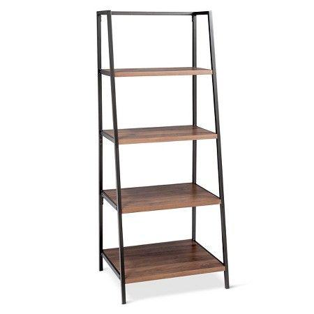 "Threshold™ 4 Shelf Trestle Bookcase in Walnut : Target // 60""Hx24""Wx20""D // $75"