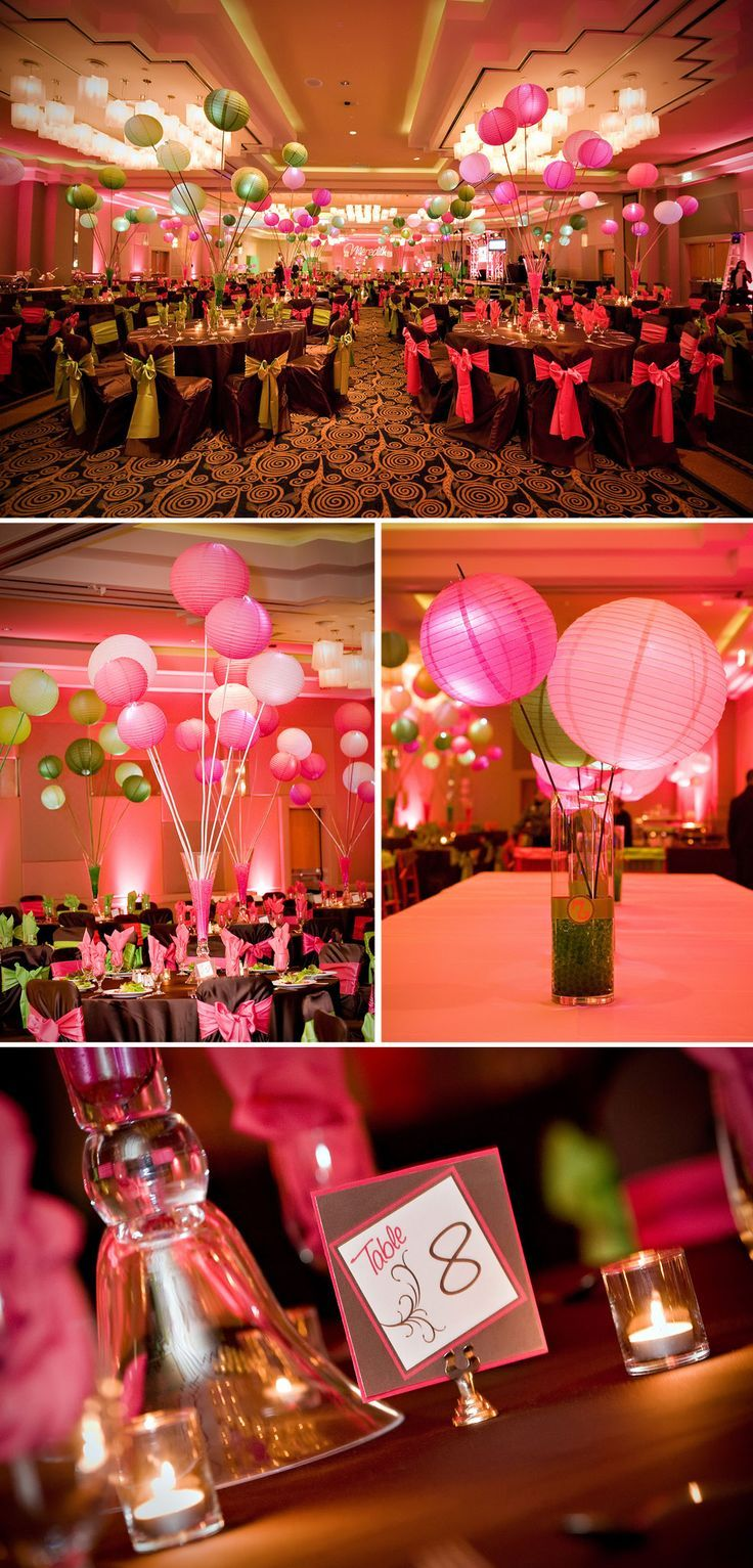 Bar mitzvah decor south florida mitzvah production by 84 west events - Bat Mitzvah Decor Lime Pink Brown The Celebration Society