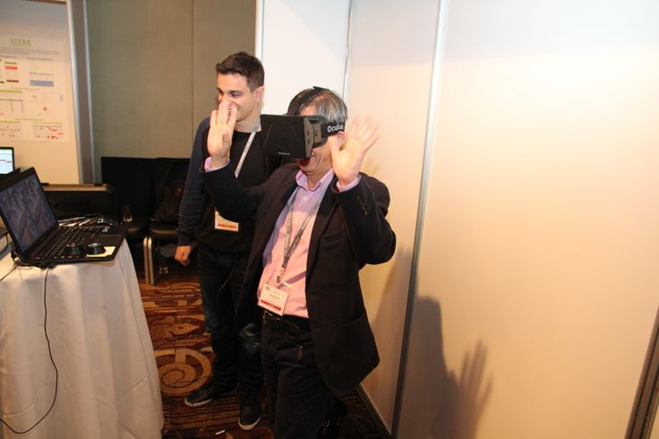 Horace  tests out Oculus Rift in the Innovation Lab
