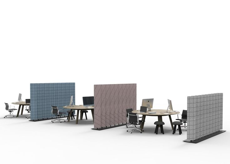 Alain Gilles Designs Felt BuzziBlinds To Shield From Office Noise