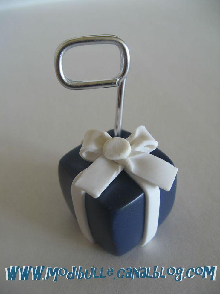 porte nom cadeau bleu nuit