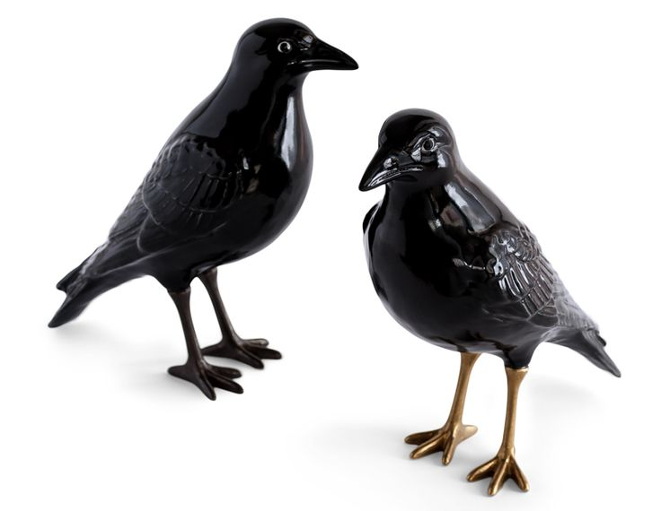 Ceramic Crow: These wonderfully sculpted crows are made using traditional techniques and crafts in the town of Caldas de Rainha in Portugal. The body is a slick black glazed ceramic and the feet are cast bronze. The crow sits majestically on display casting his beady eye around the room. Each laboratoria D'Estorias is based around a folk tale or myth, the crow was a naughty bird who nested above the tavern and harassed the ladies below him. The crow plays a very different part in mythology…