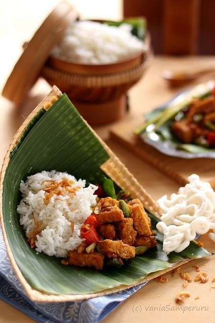 """What's #BotanyRestaurant recommend?  Don't leave Jakarta without Nasi uduk!  Is an Indonesian style steamed rice cooked in coconut milk dish originally from Jakarta which can be widely found across the country.  Nasi uduk literally means """"mixed rice"""" in Betawi dialect, related with Indonesian term aduk (""""mix""""). The name describes the dish preparation itself which requires more ingredients than common steamed rice cooking and also varieties of additional side dishes."""