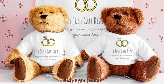Will you be my Bridesmaid bear gift  personalised teddy bear