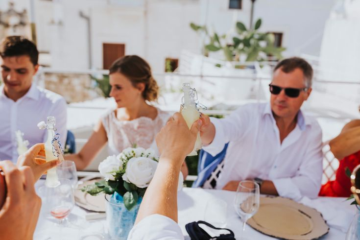 Cheers! Limoncello for everyone. Photo by Benjamin Stuart Photography #weddingphotography #limoncello #cheers #weddingtoast #weddingday #weddingbreakfast #italianwedding