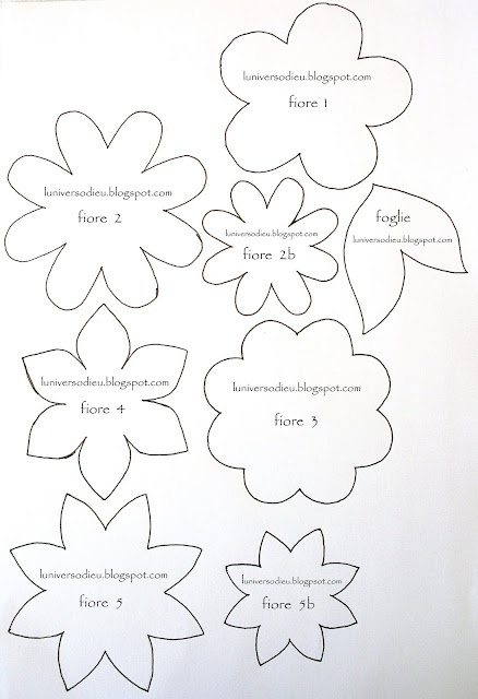 This is a photo of Ambitious Felt Flower Template Printable