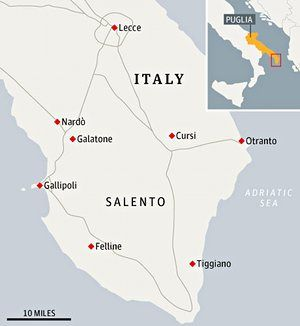 Salento map