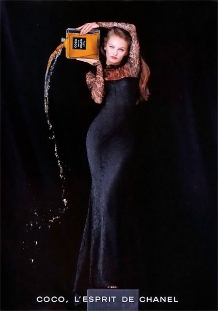Chanel, Coco campaign, 1994 (+)  photographer: Jean-Paul Goude  Vanessa Paradis