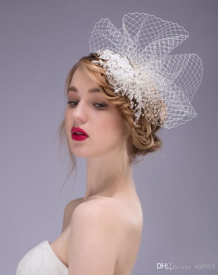 Cloche Hats Uk Organza Bridal Hat For Wedding Party Bridal Accessories Two Designs Lace Fascinator Wedding Hats Headpieces Sinamay Hats Condici Hats From Wsf003, $18.85  Dhgate.Com