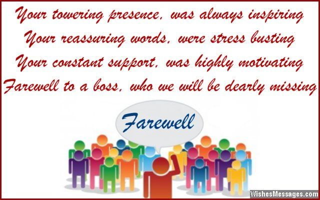 Inspirational farewell wish and goodbye message for boss