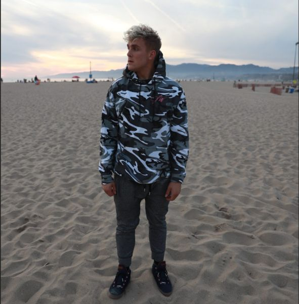Jake Paul Gray Camo Hoodie (Limited)
