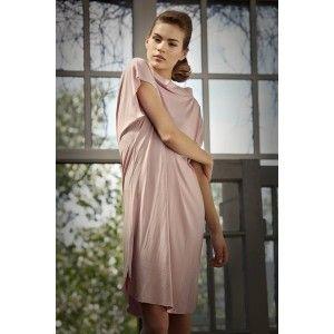 In.na - sukienka tunika z piórkiem - PolscyProjektanci.com