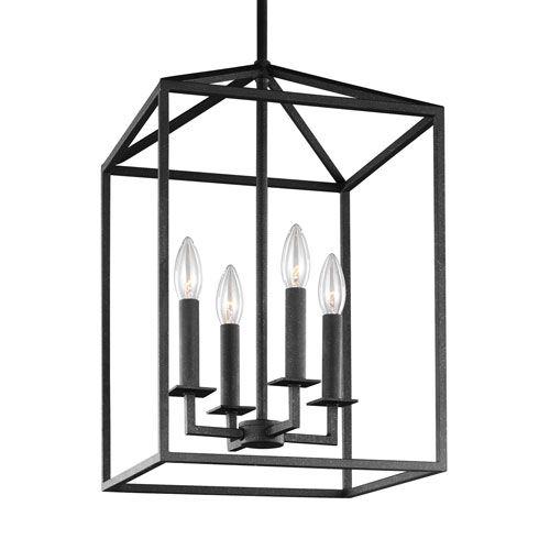 Perryton Blacksmith 15.5 Inch Four Light Lantern Pendant Sea Gull Lighting Lantern Pendant