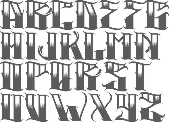 MyFonts: Gangster fonts