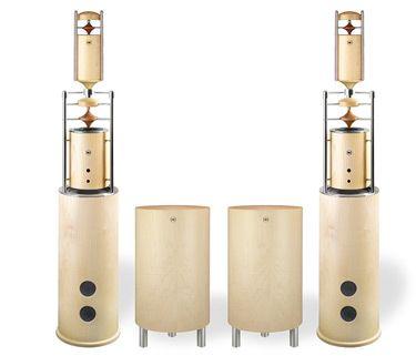 Naturschallwandler-Lautsprecher Modell Eternita + 4 Ahorn mit 2 zusätzlichen Tieftönern und 2 zusätzlichen Hoch-/Mitteltönern