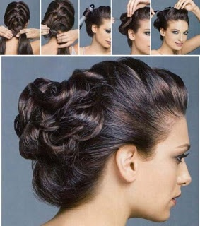 Braid with a bun that is created from loops! So so cute! I tried it this morning before pinning this hairstyle and I think it's a success! The braid provides a good basis and the top of your hair sits really well. I looped the reming hair around my fingers to create a gorgeous messy cute bun!