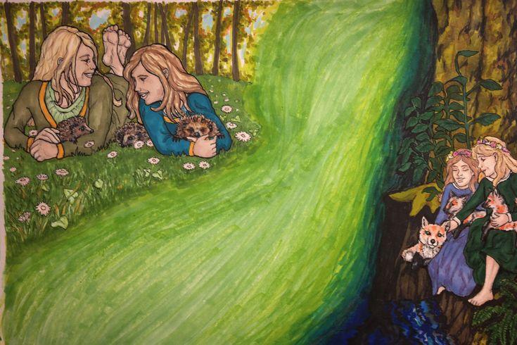 Pro-marker illustration from The Caribou Princess.