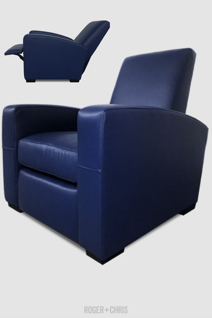 Blue Leather Recliner Armchair Blue Leather Recliner Navy