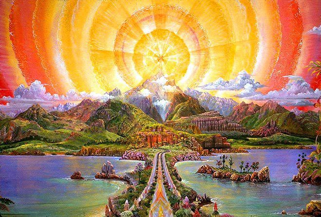 "Joseph Parker Visionary Art - ""Path to the Mountain Top"""