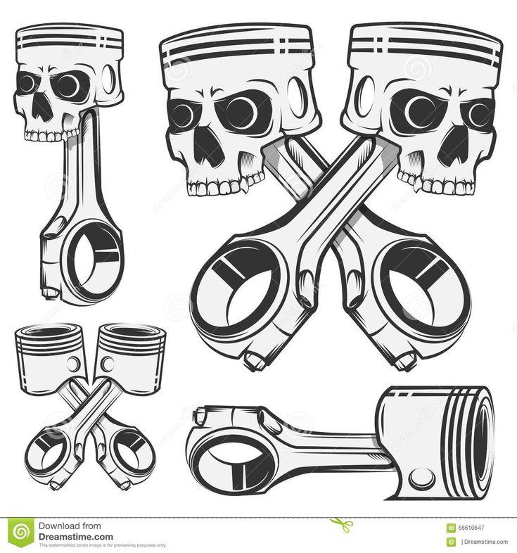 sistema-del-pistn-para-los-emblemas-tatuaje-del-diseo-etiquetas-del-crneo-deporte-66610647.jpg (1300×1390)