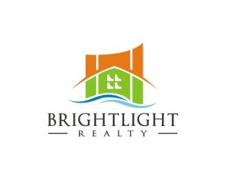 BRIGHTLIGHT  Logo design - Depiction of residential and business real estate. Price $200.00