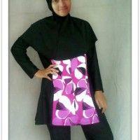 BRMD201415 Baju Renang Muslimah Dewasa Desain Longgar Motif Bunga Abstrak beli di ellima.web.id