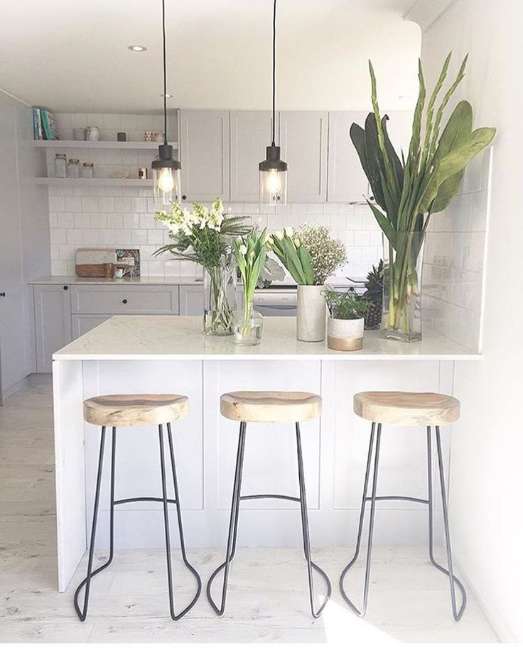 """Take a sneak peak at the boss girls @threebirdsrenovations kitchen transformation from their latest renovation featuring our tractor stools (available in…"""