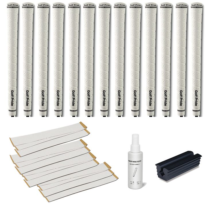 Golf Pride Tour Wrap 2G Midsize White - 13pc Grip Kit