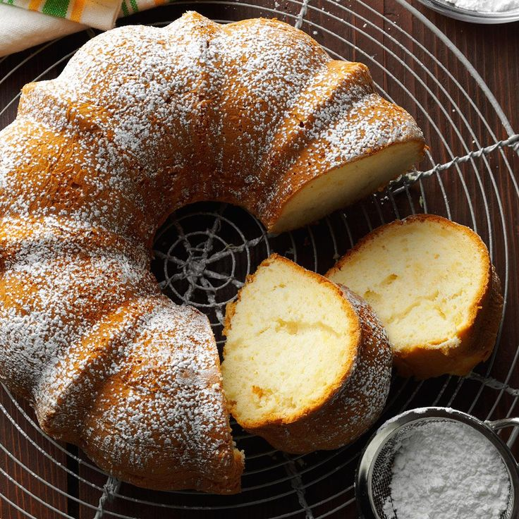 Next time you make cake from a mix, you should try my easy and delicious recipe. The finely chopped pears and syrup add sweet flavor and prevent the cake from drying out. And since there's no oil added to the batter, this tender fall-perfect cake is surprisingly low in fat. |  Pear Bundt Cake Recipe from Taste of Home