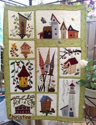 birdhouse quilt from scrap quilt & stitch