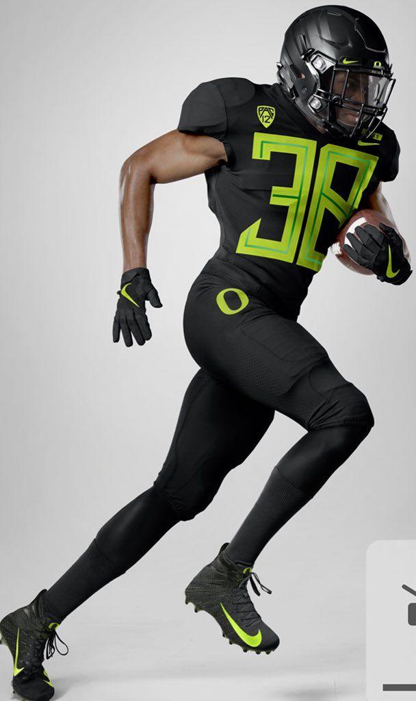 3e396913905 2018 University of Oregon Ducks all black football uniform combo Oregon  Football, Cowboys Football,