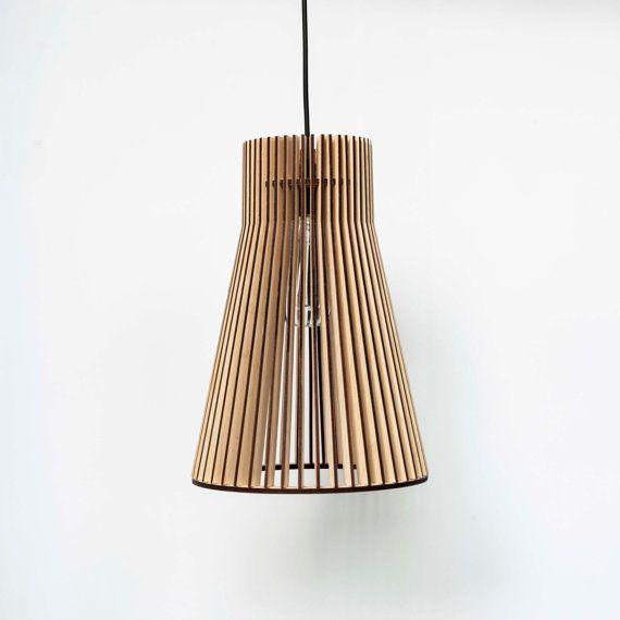 E120,- // hanging lamplightingpendant lampdining lampwooden by UrbanDecoWood