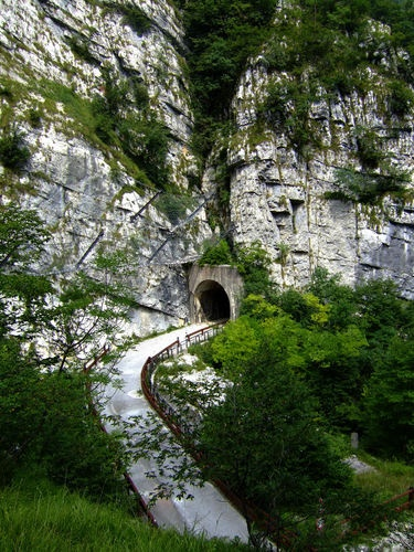 """The old road of Val Cellina"" in Riserva Naturale Forra del Cellia Italy"