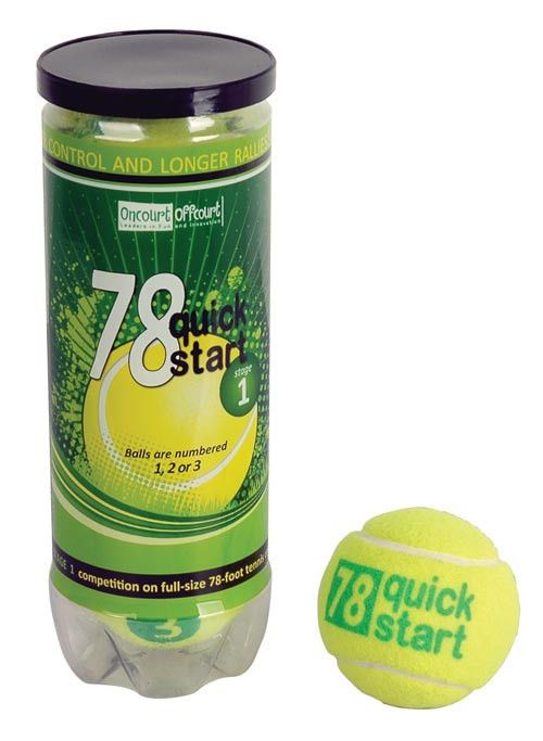 Quick Start 78 Tennis Balls - Pack of 5 Cans