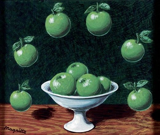 Principio de le D'Archimedes- Rene Magritte-Gouache sobre papel