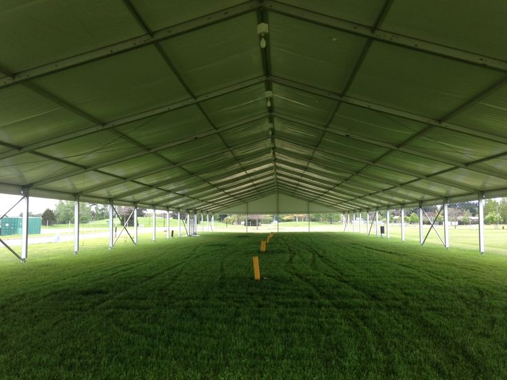 Losberger Marquee - internal shot without walls