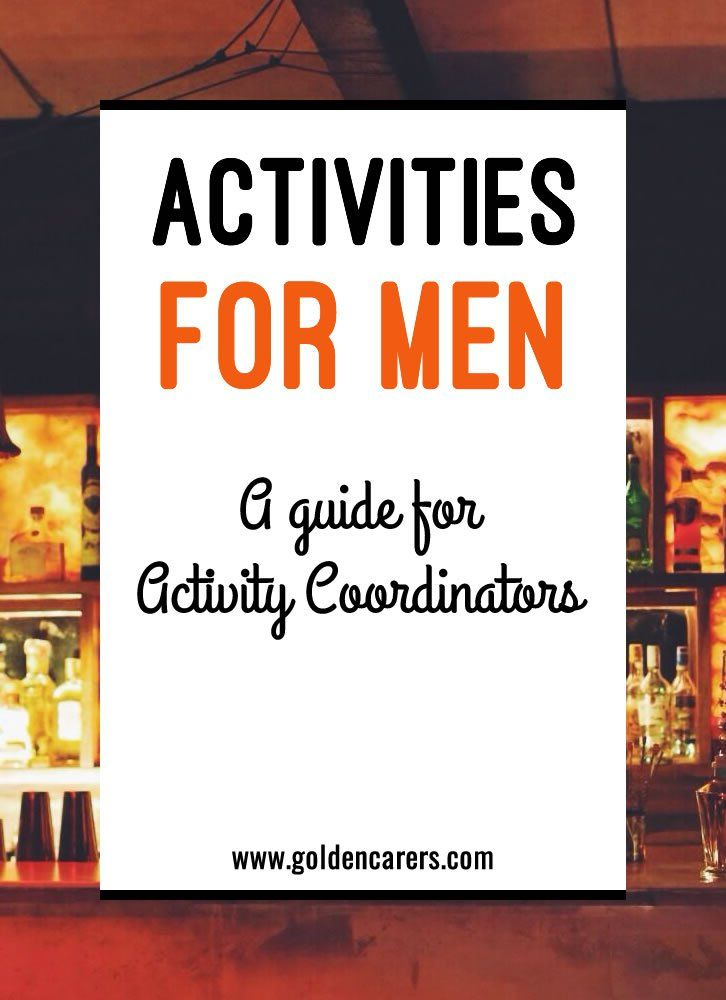 Men's activities are challenging! The best way to find meaningful activities for men is to uncover past lifestyle choices and history - you can gather this information from residents and their families. Here are 8 tips for engaging men in meaningful activities.