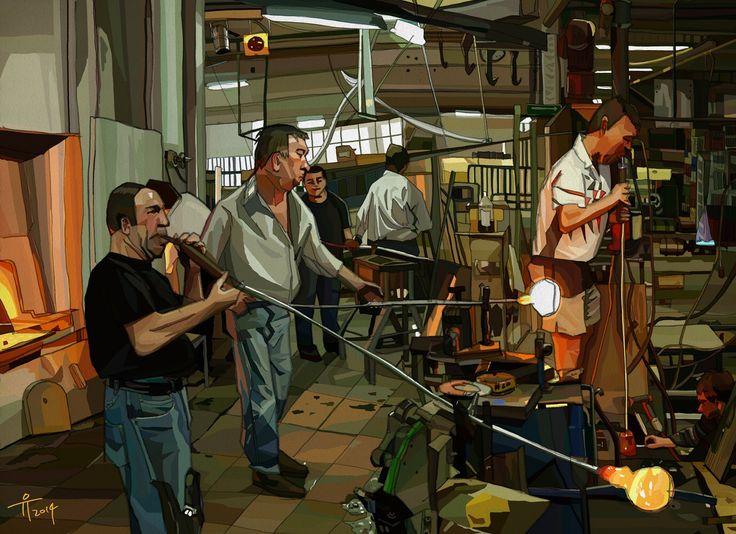 #와인 잔 공장 #Wine glass factory