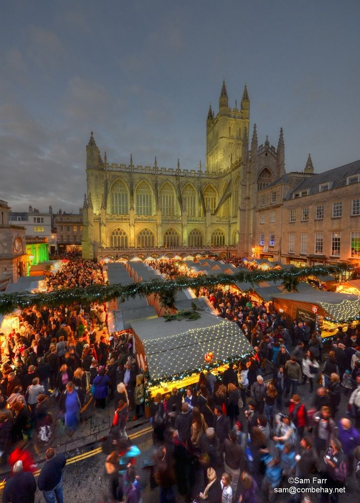 Bath Christmas Market - Once in Bath, you'll find that there is so much more to explore and experience. The city centre is a shoppers' heaven, plus there are many festive experiences for all the family to enjoy. It's simply a question of which to do first: ice-skating in the crisp winter air, or watching the steam rise as you bathe in warm spa water overlooking the twinkling city?