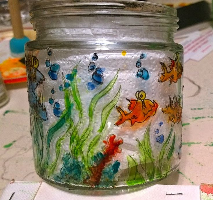Lynne's Art World: Fish And Fungus On a Jar?