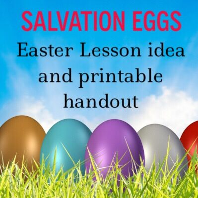 Salvation Eggs: An Easter Object Lesson  free and printable