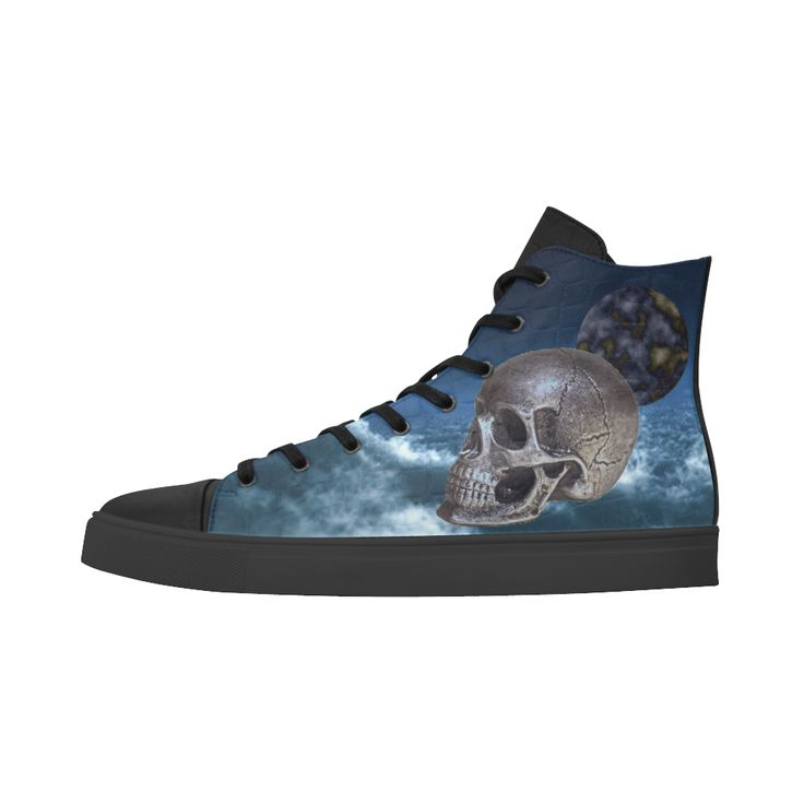 Skull and Moon Andromeda High Top Action Leather Women