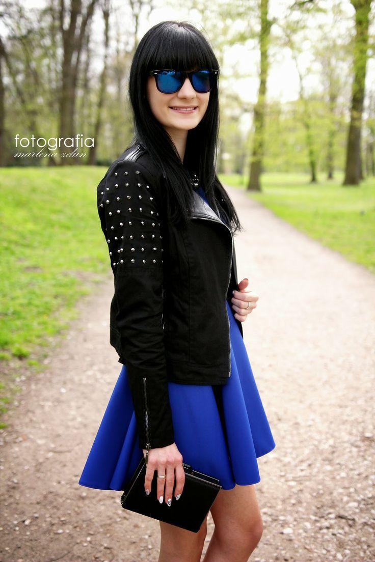 magia-siostr.blogspot.com wearing Mohito black jacket