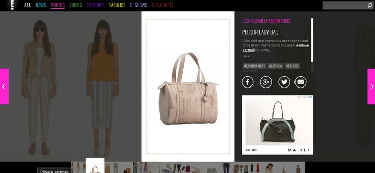 Pelcor's Lady Bag has been featured on E! Online - the number one entertainment news and celebrity gossip site on the web... #pelcor #ss14 #marble