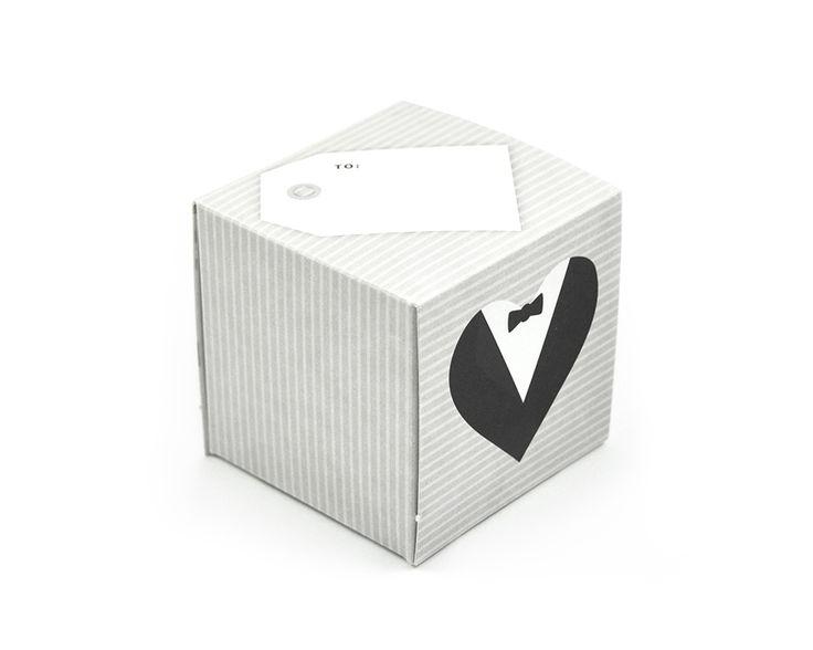 greetabl Tux & Tux greeting card and gift box