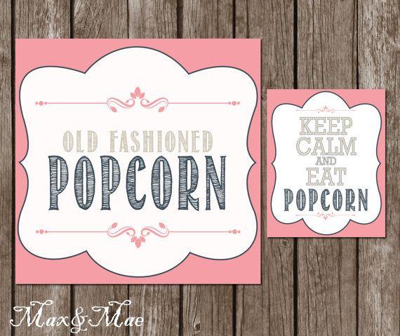 Bruiloft Popcorn Bar teken verjaardag Popcorn Bar richtingen