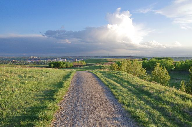 The trails are often empty in Calgary's Nose Hill Park
