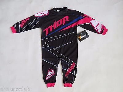 baby pajama Thor motocross motorcycle one piece jumper suit infant 6 - 12 m