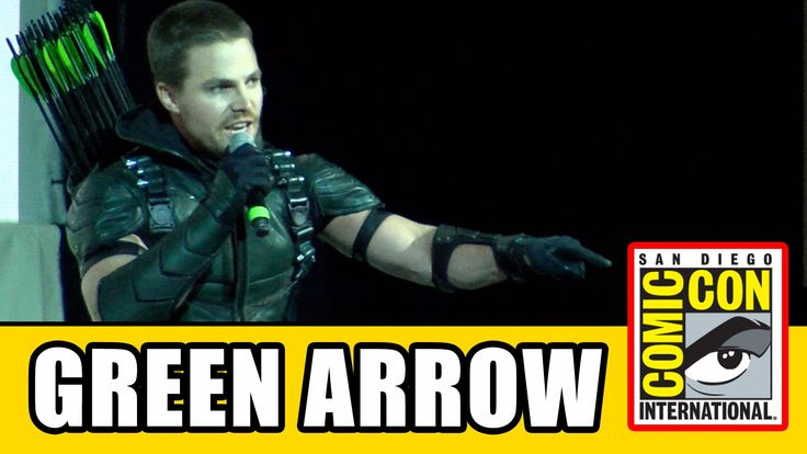 I would totally have flipped if I'd been at SD Comic Con to see this / / Stephen Amell's Live Green Arrow Intro at Comic Con