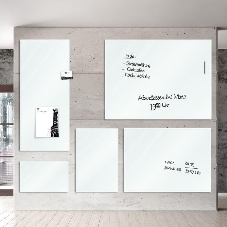 Glas Magnettafel in Weiß | beschreibbar und magnethaftend | verschiedene Größen | Dayton.de - stilvolle Alternative zu Pinnwänden und Memotafeln für Küche, Flur, Wohnzimmer, Kinderzimmer, Jugendzimmer und Büro